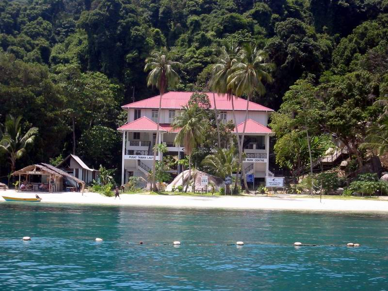 A view of the Marine Parks Center of Pulau Perhentian