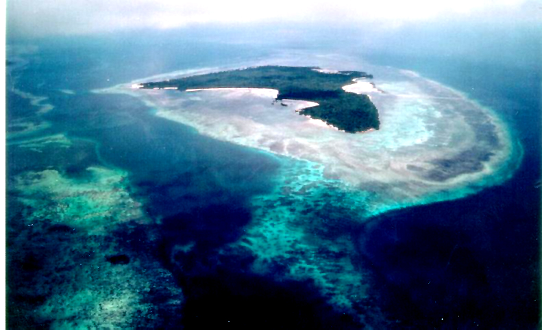 Aerial view of Hoga Island looking SE