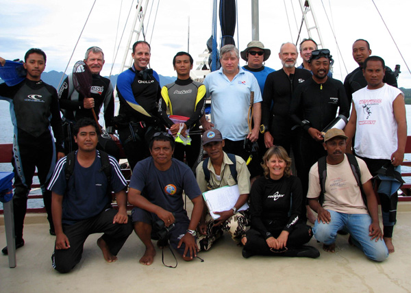 A motley crew of happy scientists in the heart of the Coral Triangle.