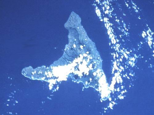 Anjouan Island in the Comoros Group.  North is at approximately 11:00.