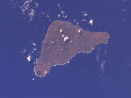 Easter Island;  North is at the top of the photograph.