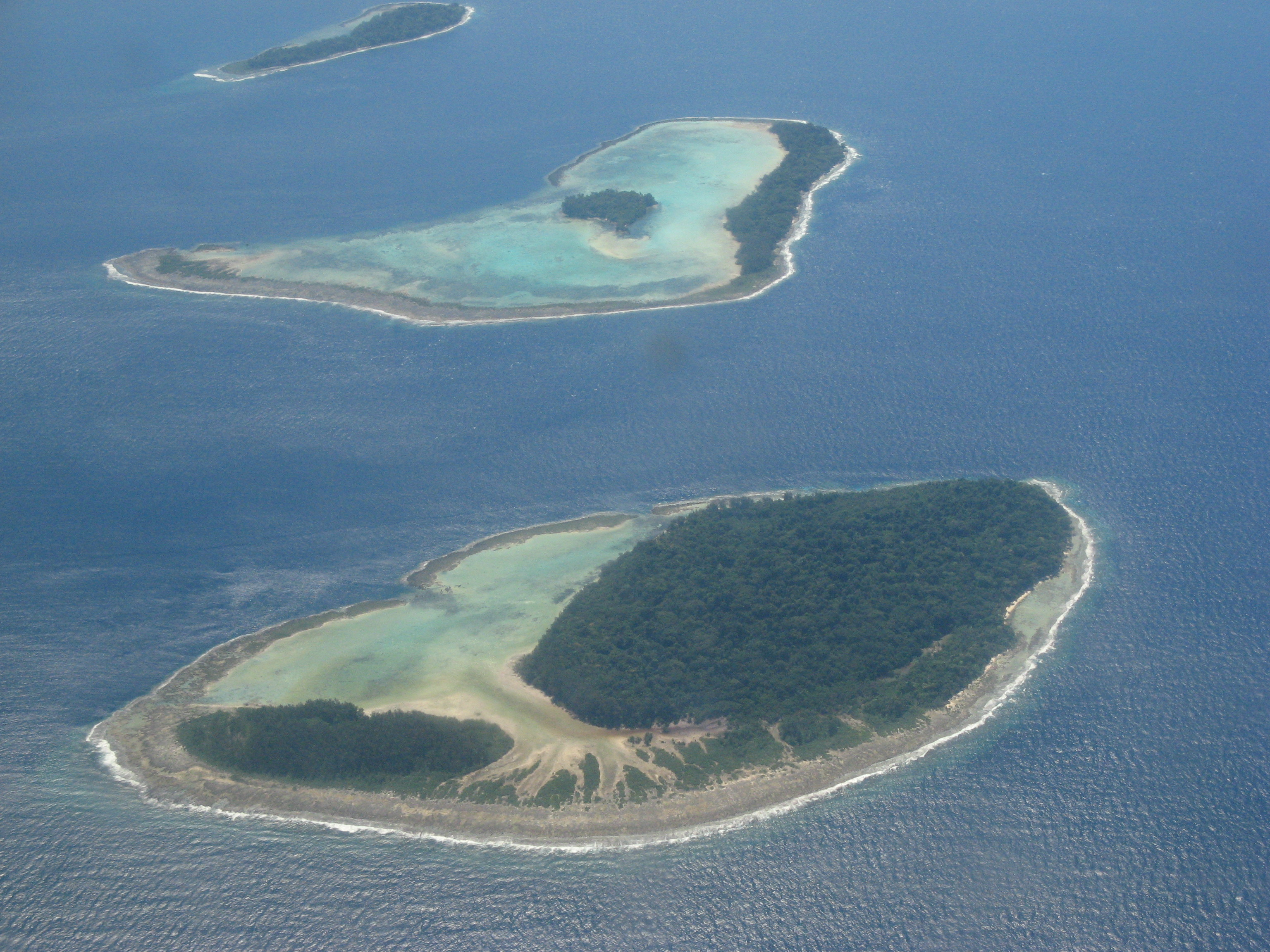 Arial view of the Solomon Islands