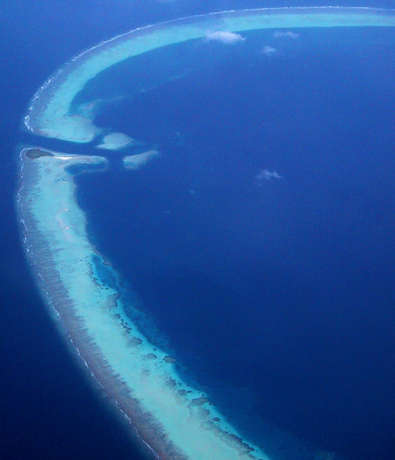 Areal photo of reefs