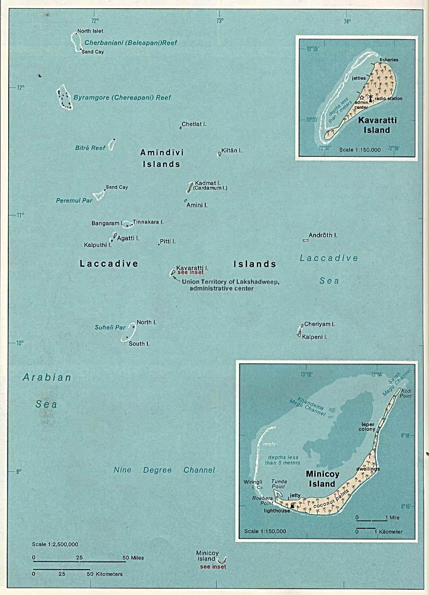 Laccadive, Minicoy and Amindivi Islands (Lakshadweep - Union Territories of the Republic Of India) 1976