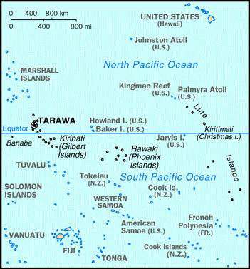 Kiribati (Small Map) 1997