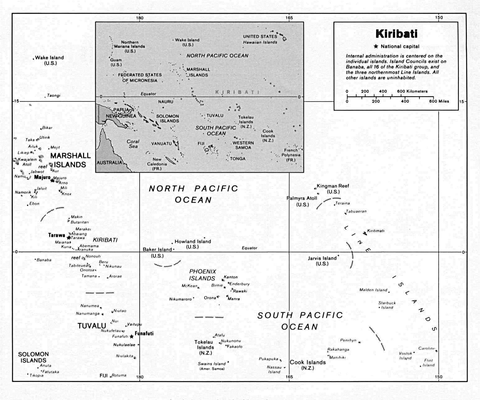 Kiribati (Political) U.S. Department of State 1994