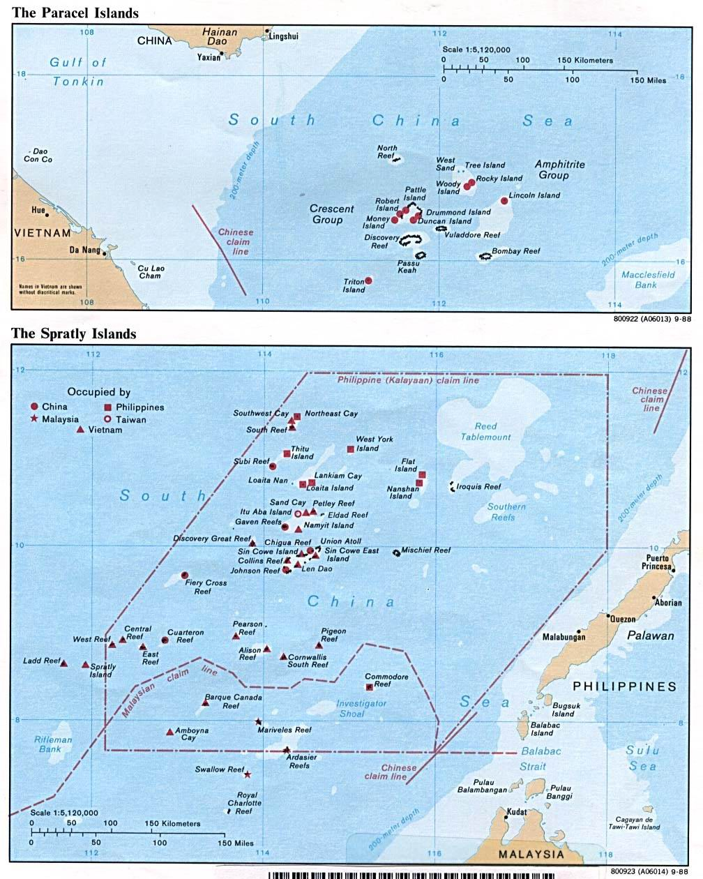 Paracel and Spratly Islands 1988