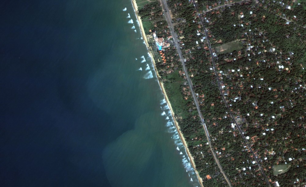 Kalutara Beach Detail (Before Tsunami)
