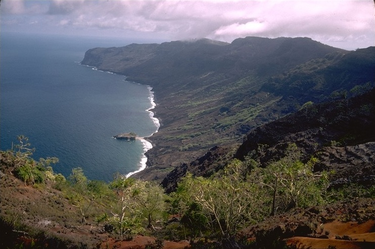 Eiao it's an uninhabited island located in the northern extremity of the Marquesas islands. It's 10 km long and 576 m. high, its area is 43,8 sqkm.